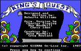 King's Quest DOS Title screen