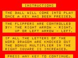 Pinball Dragon 32/64 The instructions