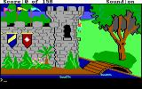King's Quest DOS Starting location: outside the castle