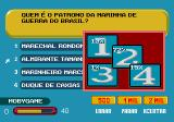 Show do Milhão Volume 2 Genesis Choosing the simulated players help, a screen showing the percentage of players guessing each answer will appear