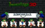 Lemmings 3D DOS Main menu