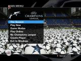 UEFA Champions League 2004-2005 Windows Main menu