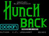 Hunchback ZX Spectrum Main title screen