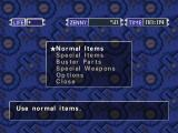 Mega Man Legends Windows The item menu