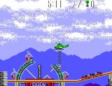 Air Rescue SEGA Master System Using the rope ladder to pick up hostages
