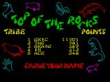 B.C. Bill ZX Spectrum High scores - a pun on the TV show 'Top of the Pops'