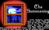 Ultima V: Warriors of Destiny DOS The Summoning begins... note the poetic language of the description.