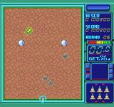 Volfied TurboGrafx-16 The cricket level, difficult because of the haphazard movement of the enemies