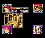 Exile MSX The main party screen