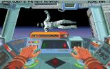 Space Quest V: The Next Mutation DOS Using the EVA pod to save Cliffy