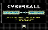 Cyberball Atari ST Choose number of players