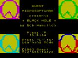 The Black Hole ZX Spectrum Loading screen