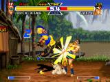 Real Bout Garō Densetsu Special: Dominated Mind PlayStation Joe Higashi's probable counterattack is successfully hit-stopped by Duck King's move Dancing Dive...