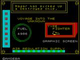 Voyage into the Unknown ZX Spectrum The onboard ship display - I wonder what it all does