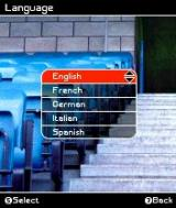 FIFA Soccer 2004 N-Gage Select language.