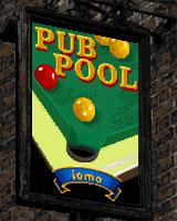 Pub Pool J2ME The title screen