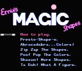 Sesame Street 1 2 3 NES Ernie's Magic main menu