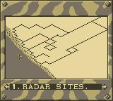 Desert Strike: Return to the Gulf Game Boy Map Screen