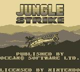 Jungle Strike Game Boy Title Screen