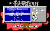 The Flintstones: Dino: Lost in Bedrock DOS Main menu