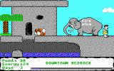 The Flintstones: Dino: Lost in Bedrock DOS End of level 1
