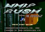 Whip Rush Genesis American title screen