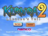 Klonoa 2: Lunatea's Veil PlayStation 2 Title screen