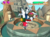 Klonoa 2: Lunatea's Veil PlayStation 2 Fight this armoured boss by throwing Moos at its yellow weak point.