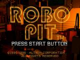 Robo Pit SEGA Saturn Title screen.