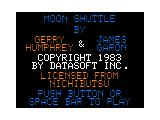 Moon Shuttle TRS-80 CoCo Title/Credit screen