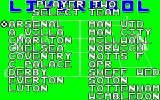 Liverpool   Amstrad CPC Opponent choices