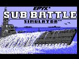 Sub Battle Simulator TRS-80 CoCo The main title screen