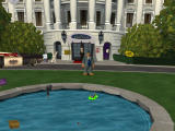 Sam & Max Episode 4: Abe Lincoln Must Die! Windows Standing in front of the White House.