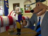 Sam & Max: Episode 4 - Abe Lincoln Must Die! Windows Sam is having fun in the Oval Office.
