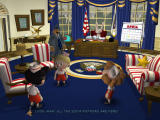 Sam & Max: Episode 4 - Abe Lincoln Must Die! Windows Max becomes president of the United States, and the three Soda Poppers are governors of the Dakota states.