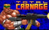 Total Carnage DOS Title screen
