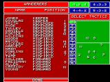 Super Kick Off SEGA Master System Selecting your tactics in the beginning