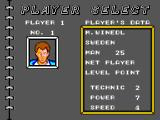 Tennis Ace SEGA Master System Selecting your player... don't think too much, they all look ugly