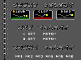 Tennis Ace SEGA Master System Exhibition mode menu