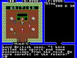 Ultima IV: Quest of the Avatar SEGA Master System Chatting with Lord British in his castle