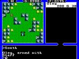 Ultima IV: Quest of the Avatar SEGA Master System Battle screen is never the same, it always reflects the terrain you were walking on