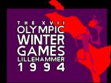 Winter Olympics: Lillehammer '94 SEGA Master System Title screen