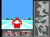 Winter Olympics: Lillehammer '94 SEGA Master System Bobsleigh. Cool view