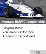 Formula BMW Racing Game 2003 J2ME Qualifying for the championship.