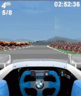 Formula BMW Racing Game 2003 J2ME Driving in the fifth lap.
