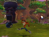 Crash Twinsanity Xbox You can light the bomb with a spin attack.