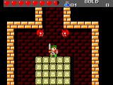 Wonder Boy III: The Dragon's Trap SEGA Master System On a pile of bricks, two bats over me...