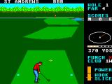 World Class Leader Board SEGA Master System The standard St. Andrews course