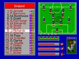 World Cup USA 94 SEGA Master System Team roster