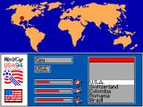 World Cup USA 94 SEGA Master System World cup: team select